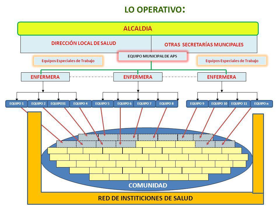 LO OPERATIVO: ALCALDIA RED DE INSTITICIONES DE SALUD COMUNIDAD