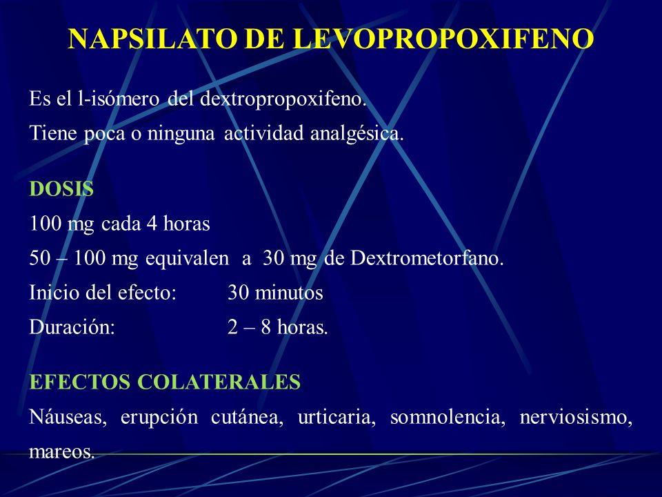 NAPSILATO DE LEVOPROPOXIFENO