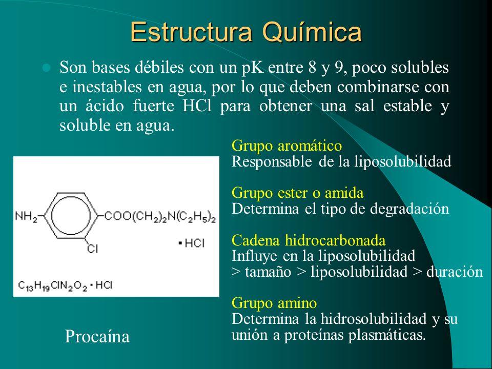 Estructura Química Procaína