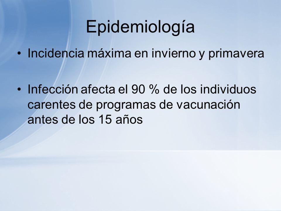 Epidemiología Incidencia máxima en invierno y primavera