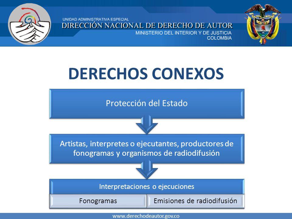 DERECHOS CONEXOS Protección del Estado