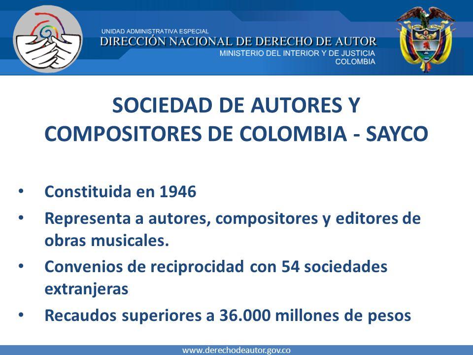 SOCIEDAD DE AUTORES Y COMPOSITORES DE COLOMBIA - SAYCO