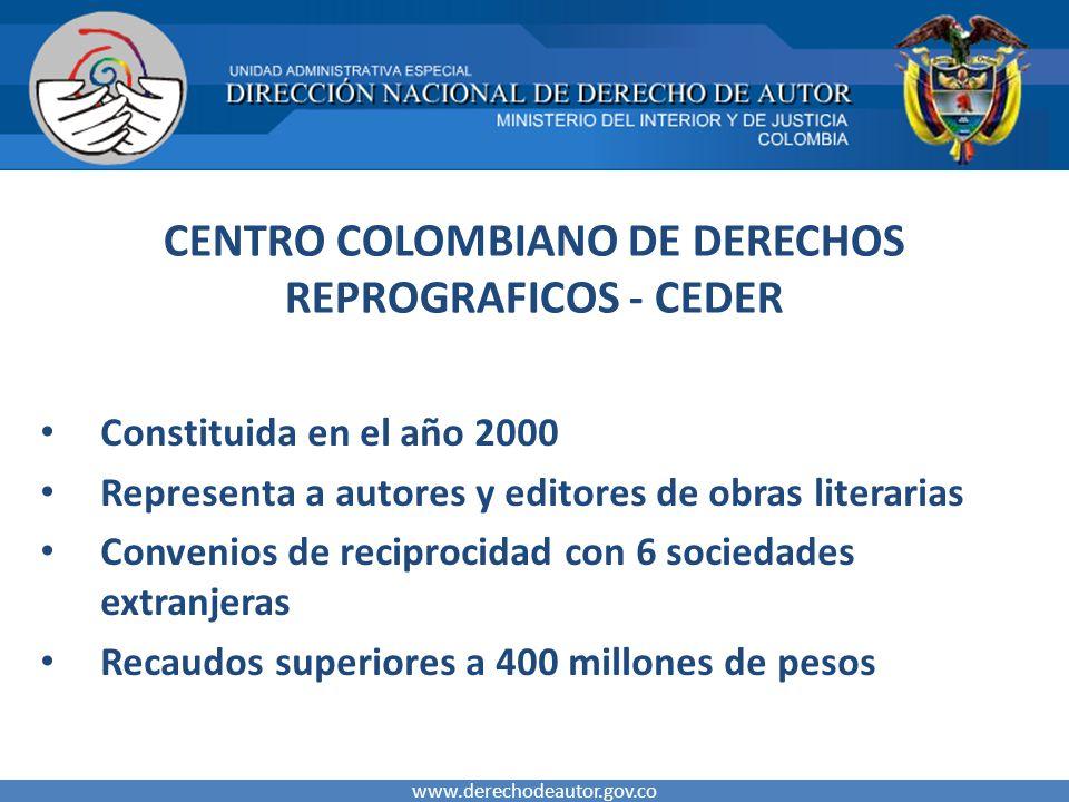 CENTRO COLOMBIANO DE DERECHOS REPROGRAFICOS - CEDER