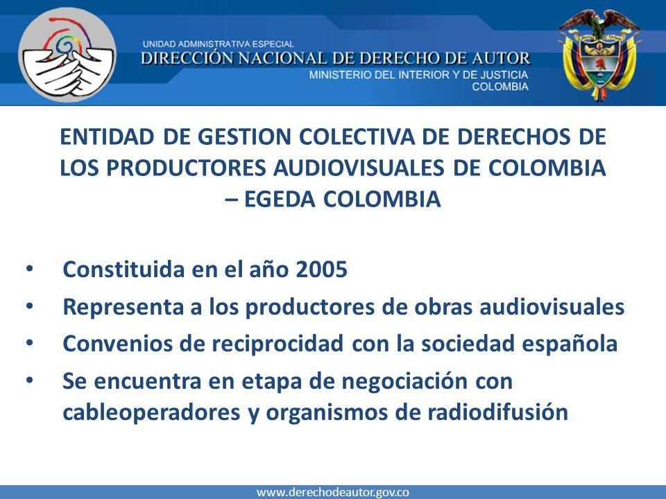 Representa a los productores de obras audiovisuales