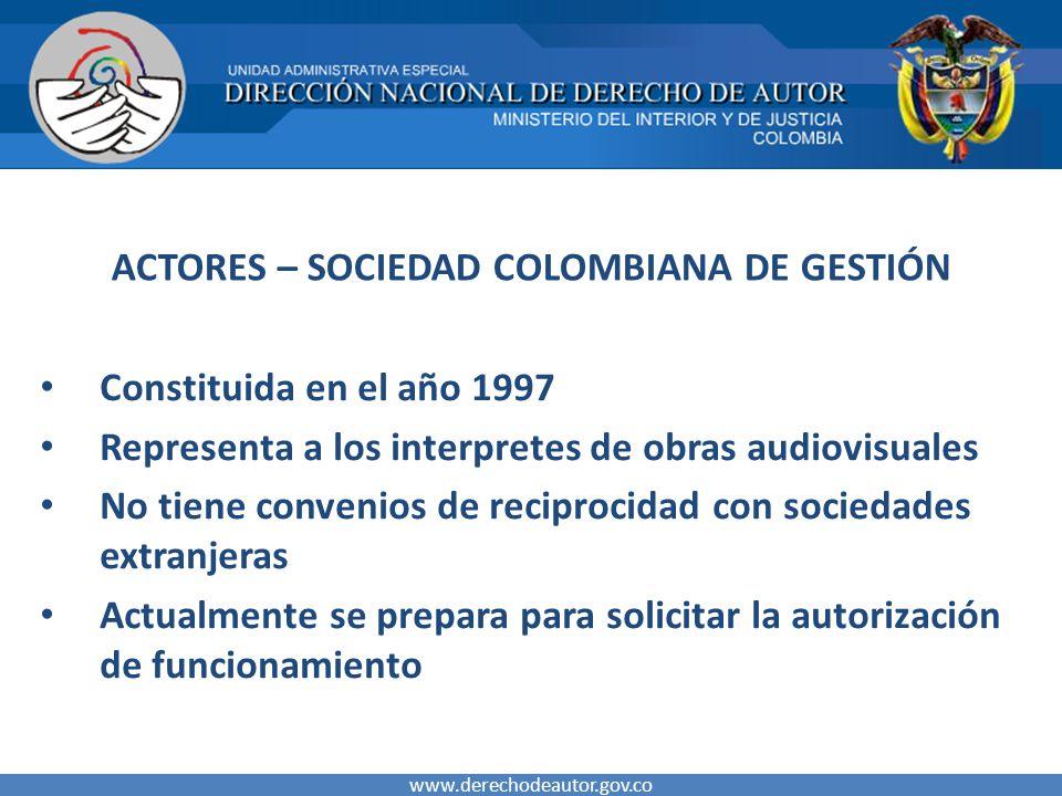 ACTORES – SOCIEDAD COLOMBIANA DE GESTIÓN