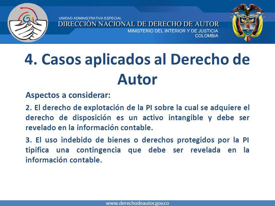 4. Casos aplicados al Derecho de Autor