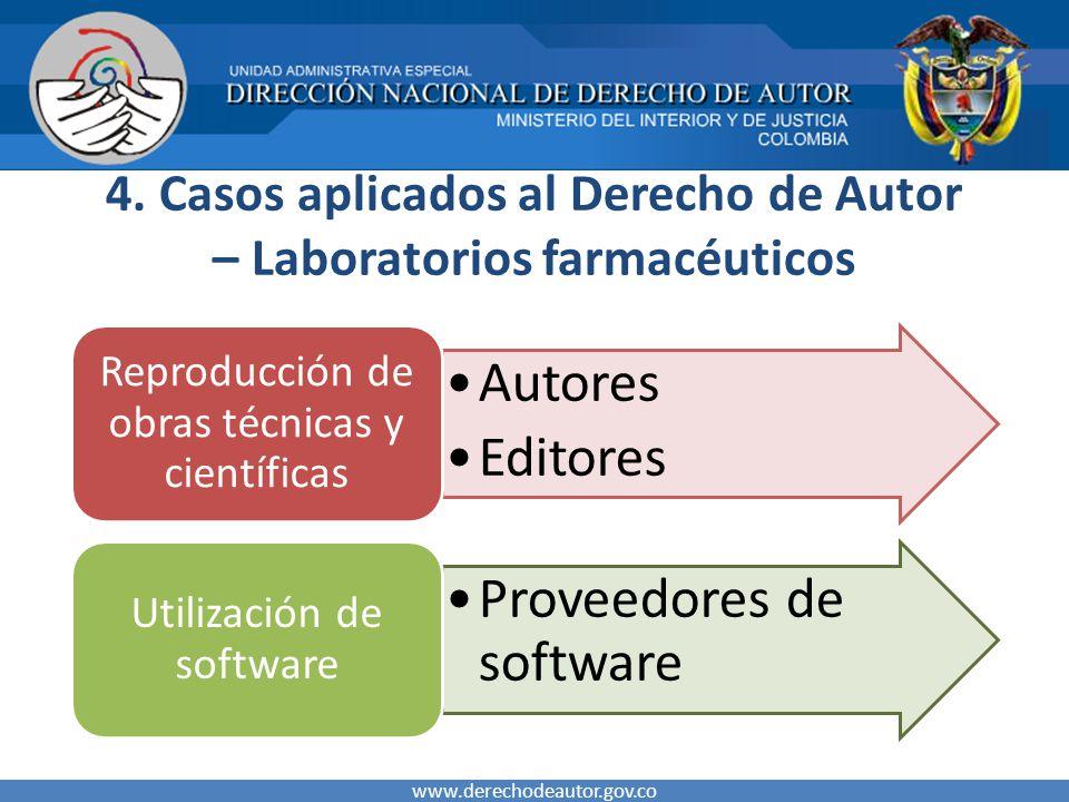 4. Casos aplicados al Derecho de Autor – Laboratorios farmacéuticos