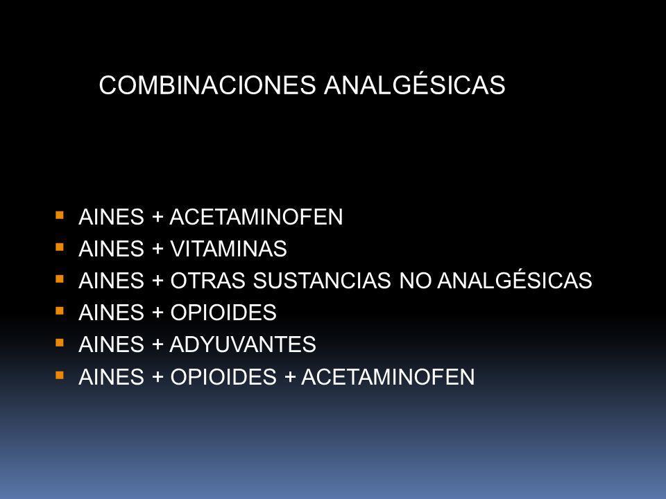 COMBINACIONES ANALGÉSICAS
