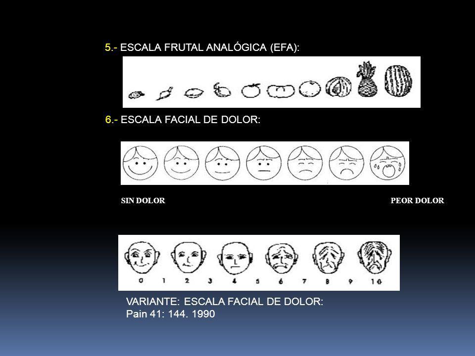 5.- ESCALA FRUTAL ANALÓGICA (EFA):
