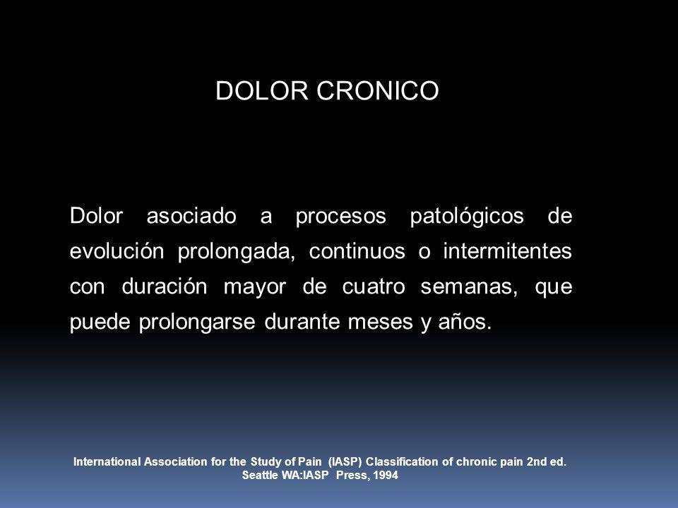 DOLOR CRONICO