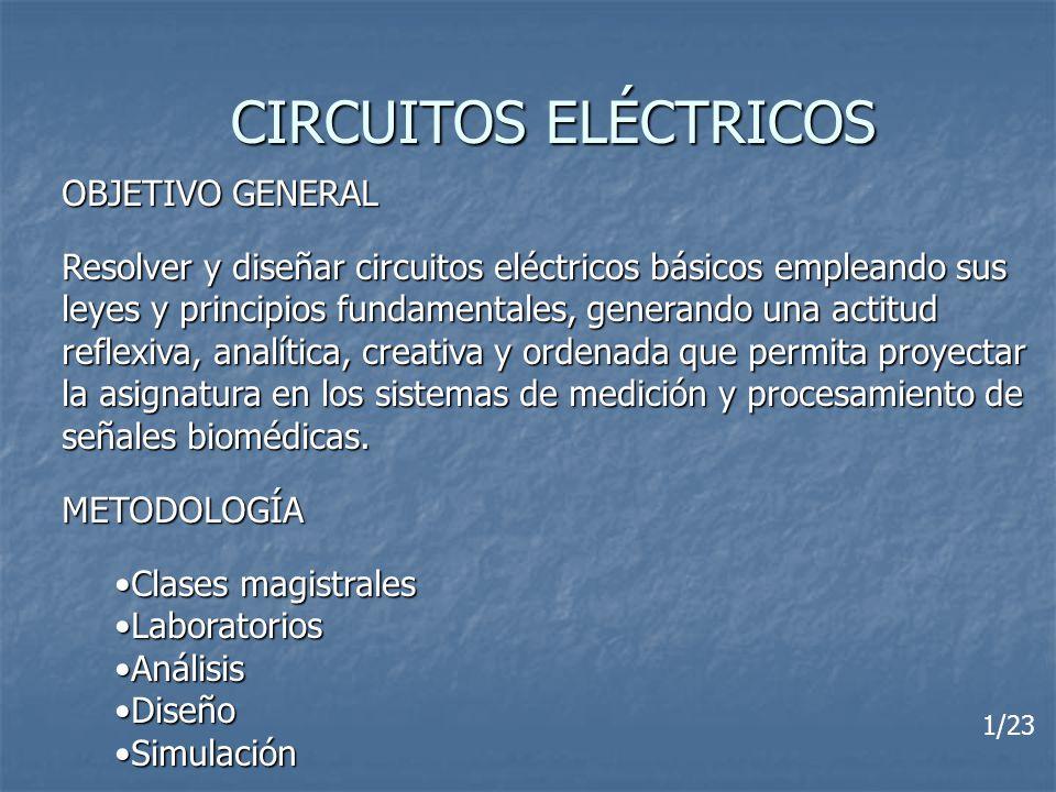 CIRCUITOS ELÉCTRICOS OBJETIVO GENERAL