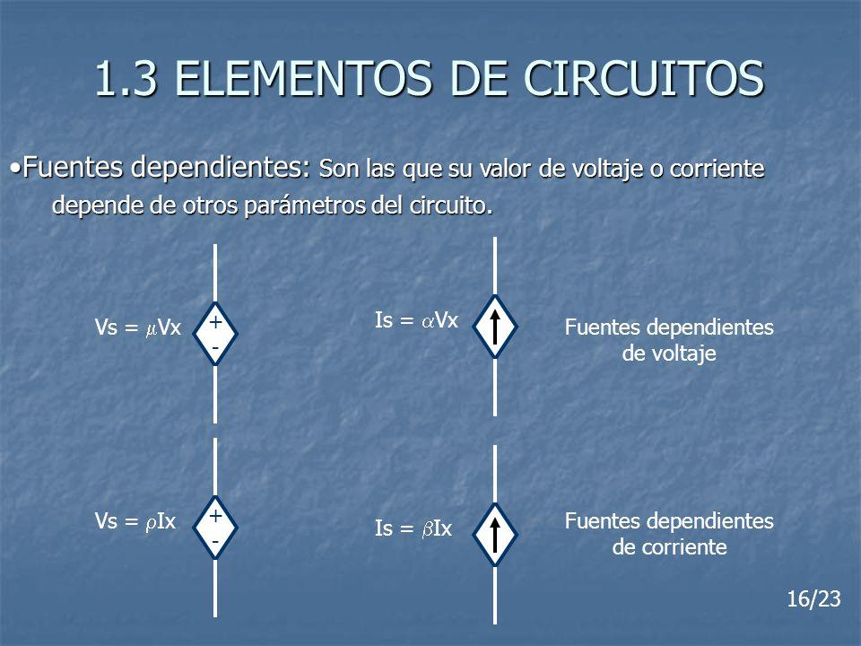 1.3 ELEMENTOS DE CIRCUITOS