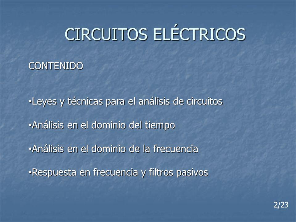 CIRCUITOS ELÉCTRICOS CONTENIDO