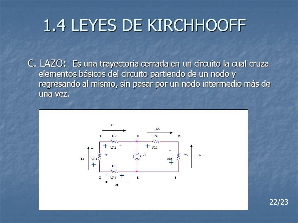 1.4 LEYES DE KIRCHHOOFF