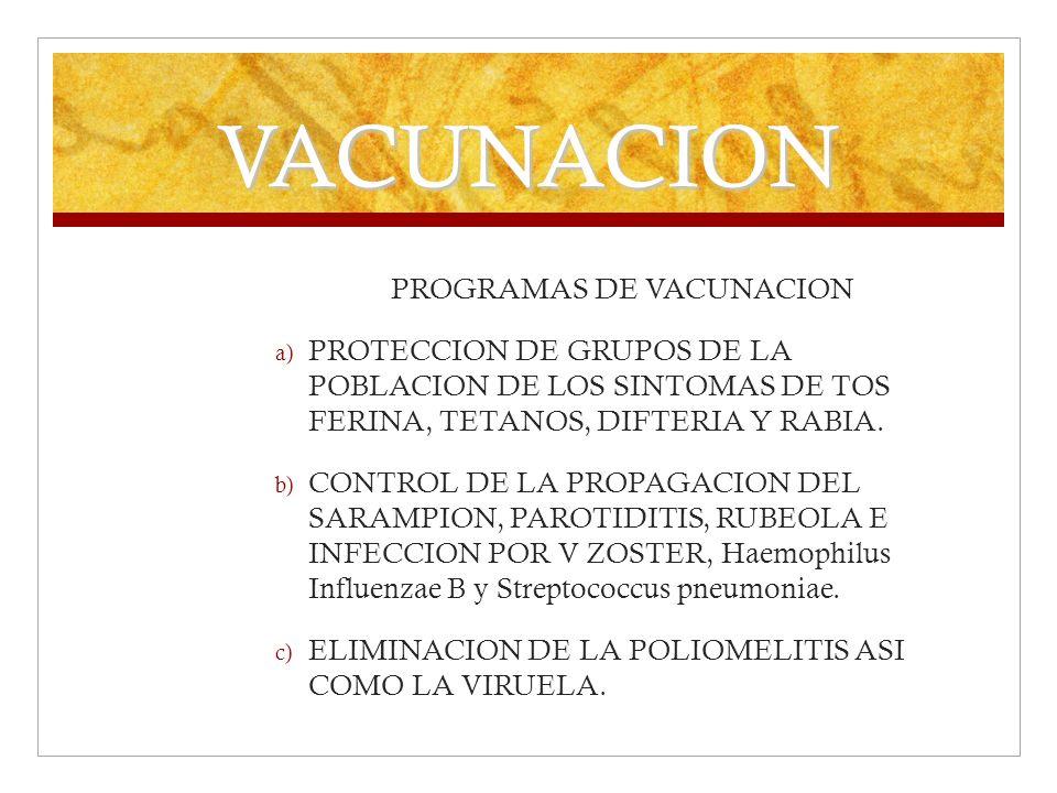 PROGRAMAS DE VACUNACION