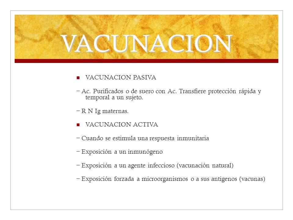 VACUNACION VACUNACION PASIVA