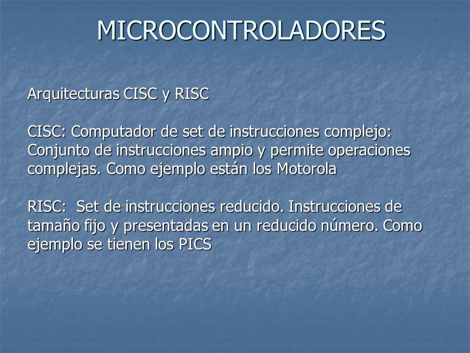 MICROCONTROLADORES Arquitecturas CISC y RISC