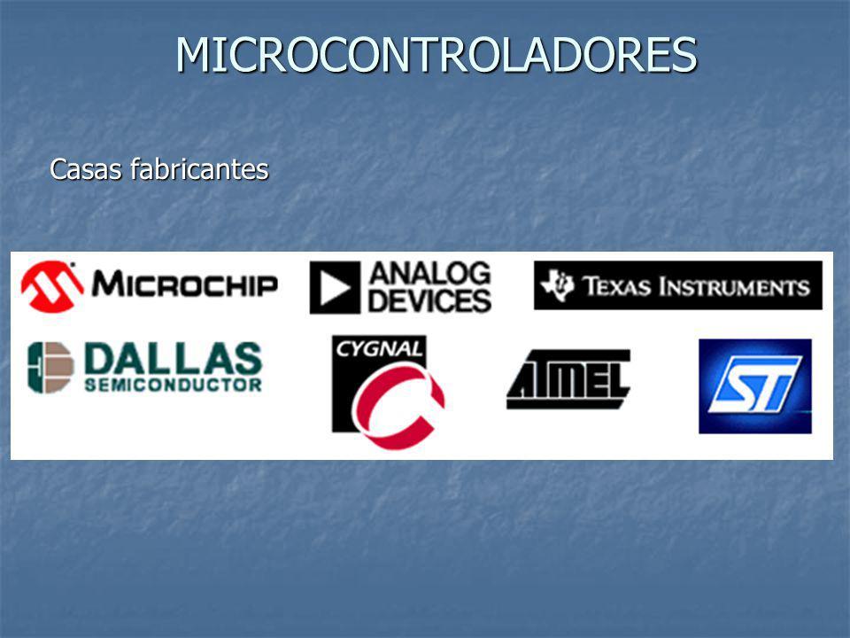 MICROCONTROLADORES Casas fabricantes