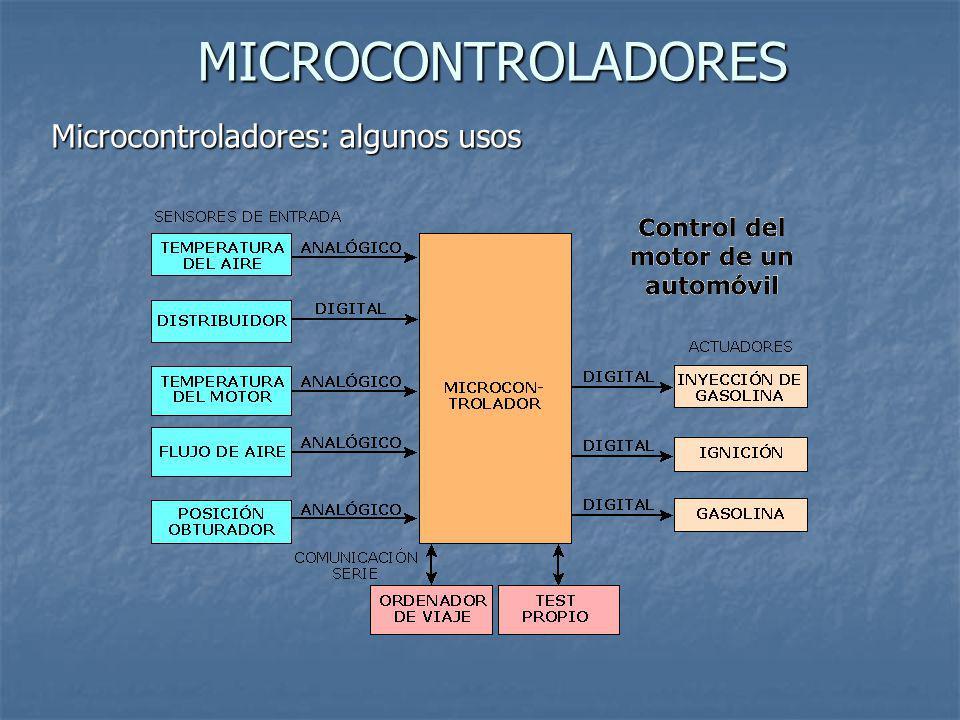 MICROCONTROLADORES Microcontroladores: algunos usos