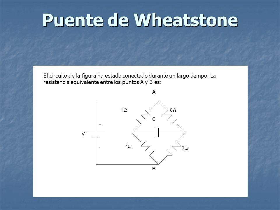 Puente de Wheatstone C. 1 4 2 8 V. + - A. B.