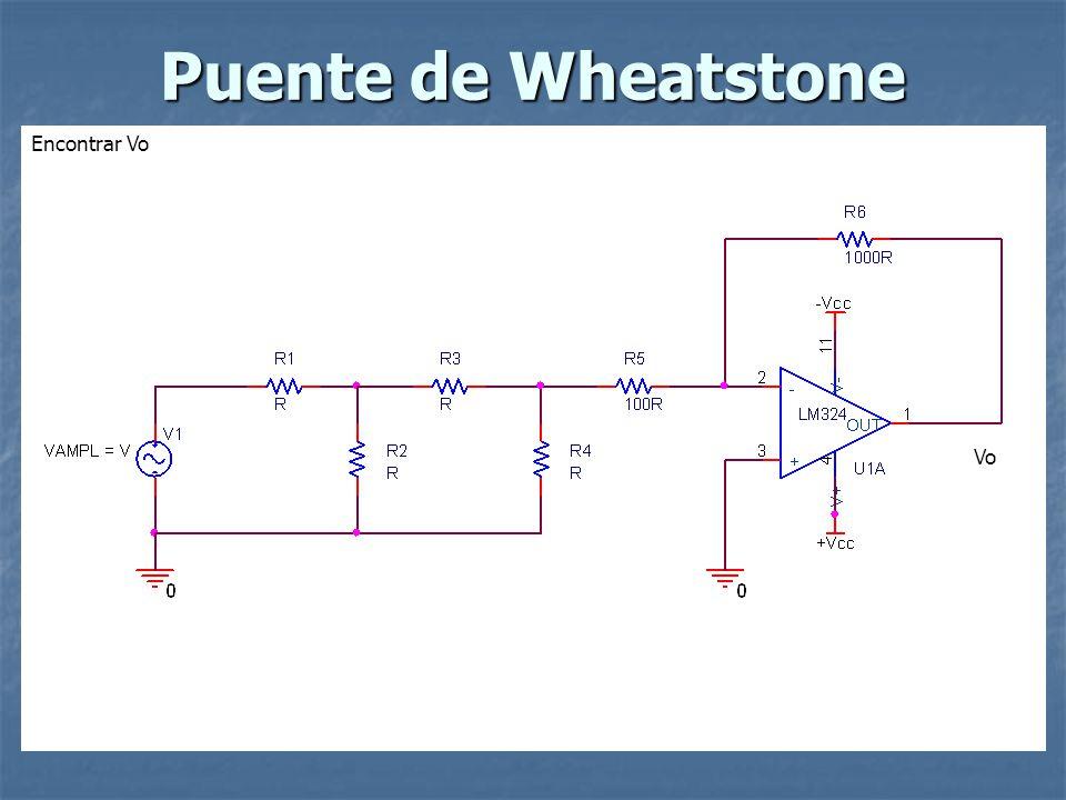 Puente de Wheatstone Encontrar Vo Vo