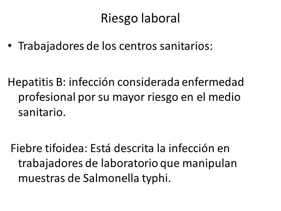 Riesgo laboral Trabajadores de los centros sanitarios: