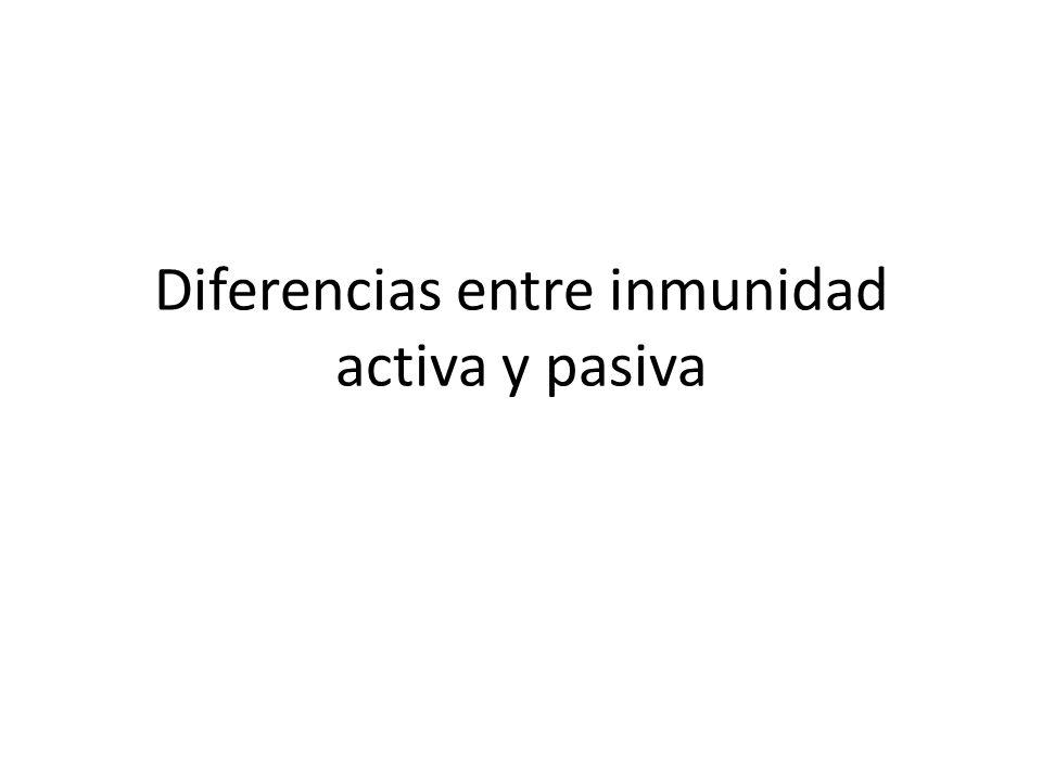 Diferencias entre inmunidad activa y pasiva