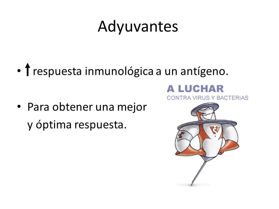 Adyuvantes respuesta inmunológica a un antígeno.