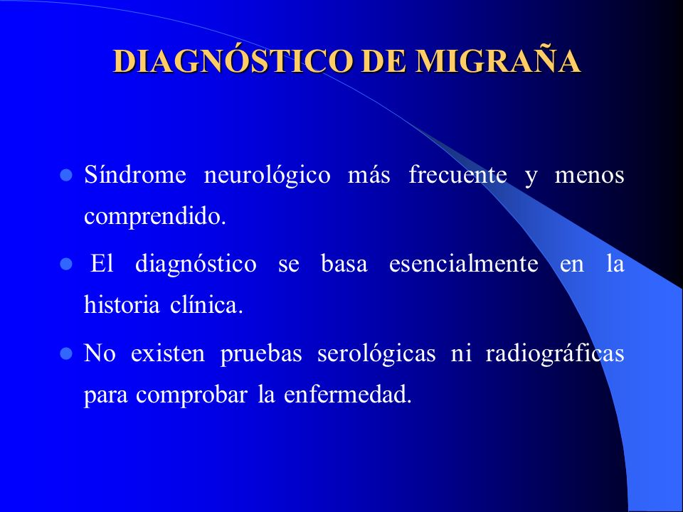 DIAGNÓSTICO DE MIGRAÑA