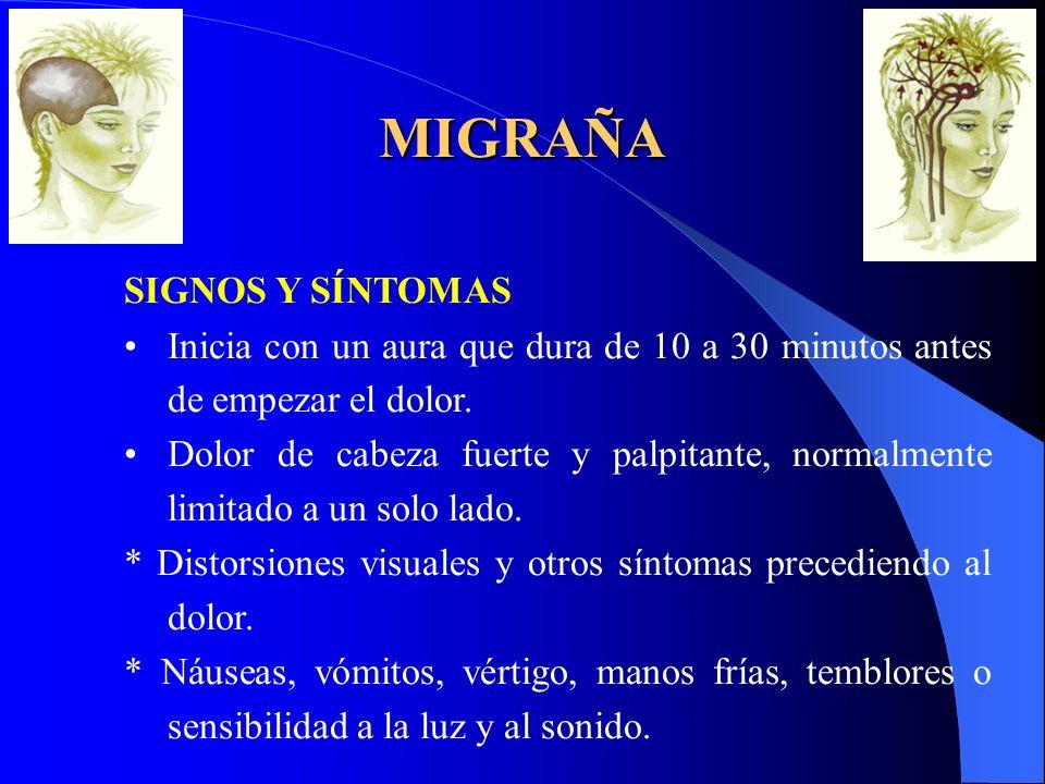 MIGRAÑA SIGNOS Y SÍNTOMAS