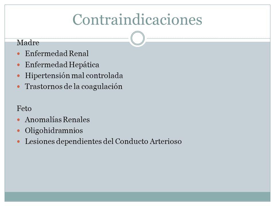 Contraindicaciones Madre Enfermedad Renal Enfermedad Hepática