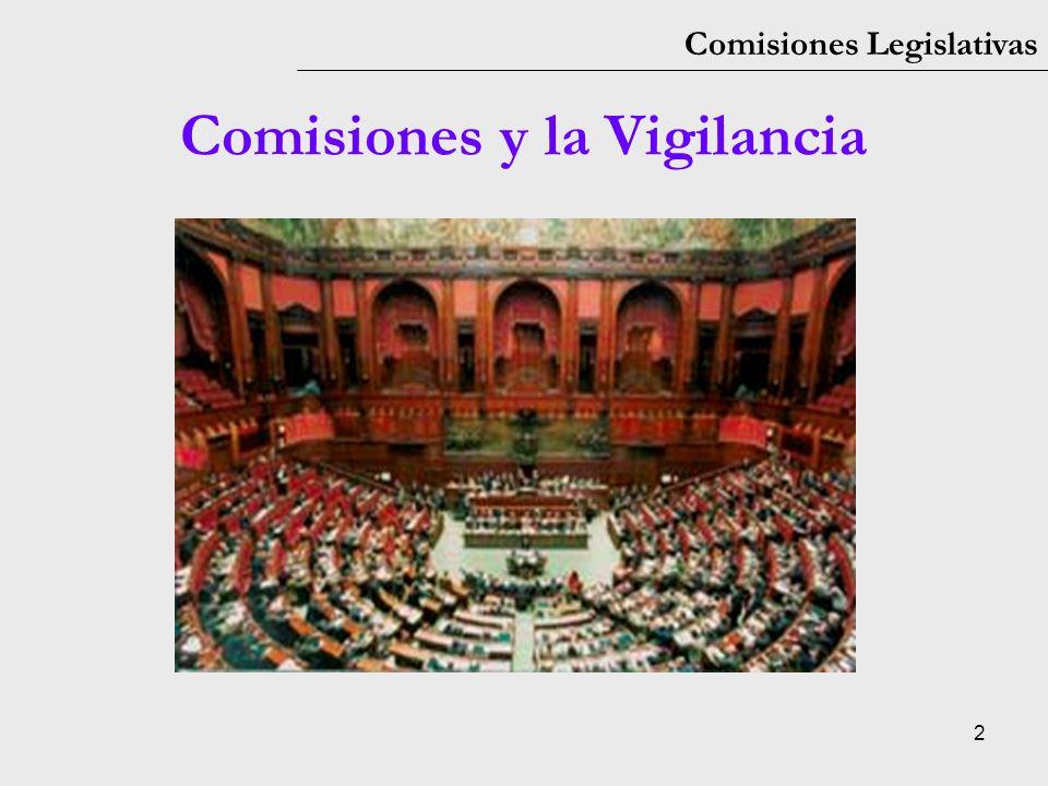 Comisiones y la Vigilancia