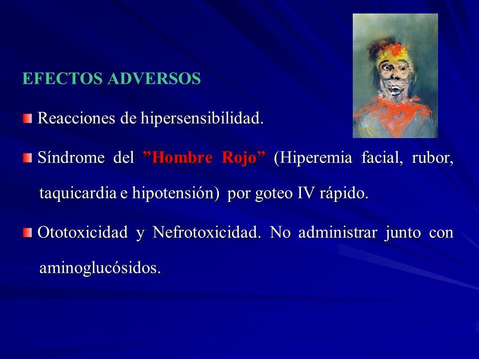 EFECTOS ADVERSOS Reacciones de hipersensibilidad.