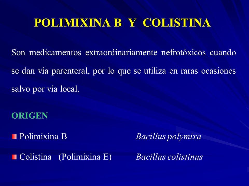 POLIMIXINA B Y COLISTINA