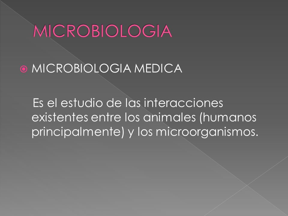 MICROBIOLOGIA MICROBIOLOGIA MEDICA