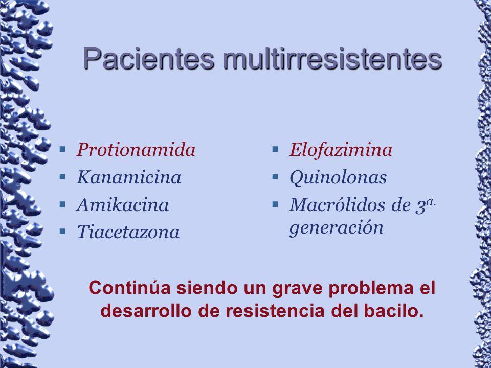 Pacientes multirresistentes