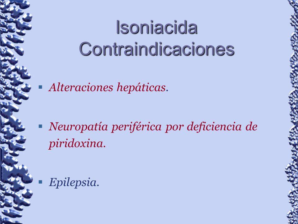 Isoniacida Contraindicaciones