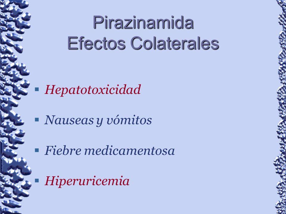 Pirazinamida Efectos Colaterales