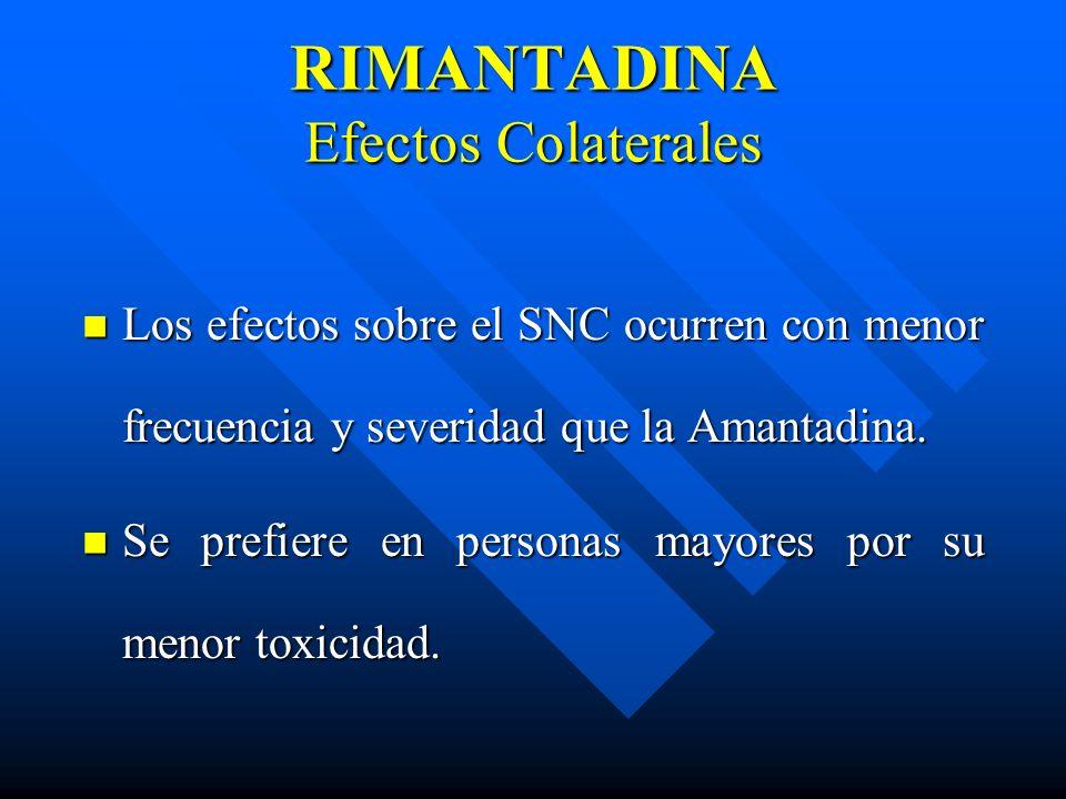 RIMANTADINA Efectos Colaterales