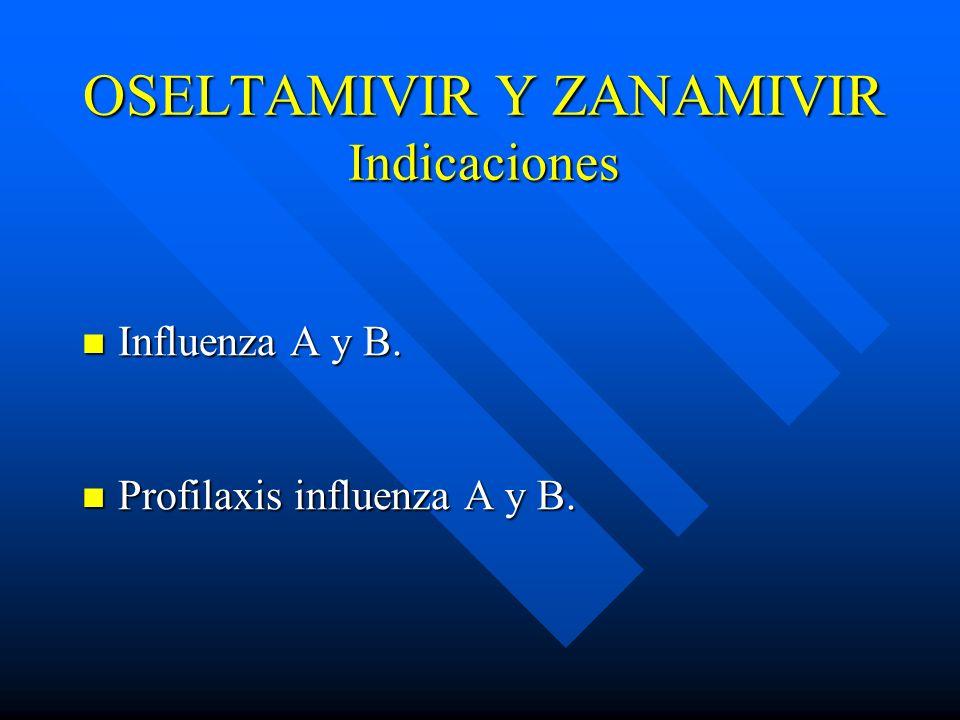 OSELTAMIVIR Y ZANAMIVIR Indicaciones