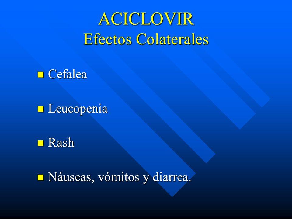 ACICLOVIR Efectos Colaterales