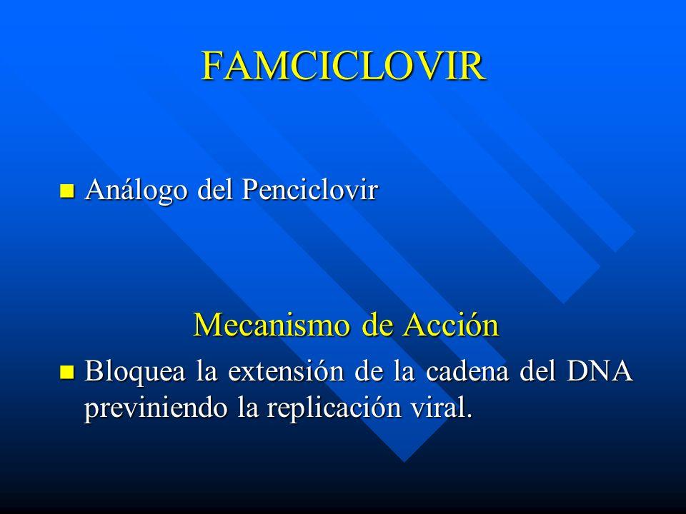 FAMCICLOVIR Mecanismo de Acción Análogo del Penciclovir