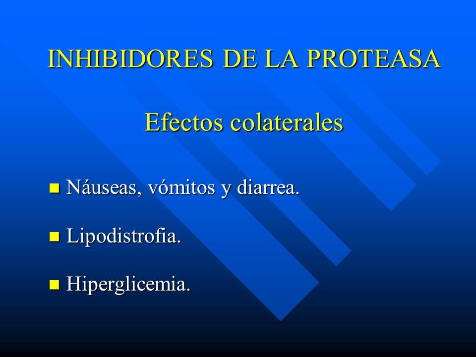INHIBIDORES DE LA PROTEASA Efectos colaterales