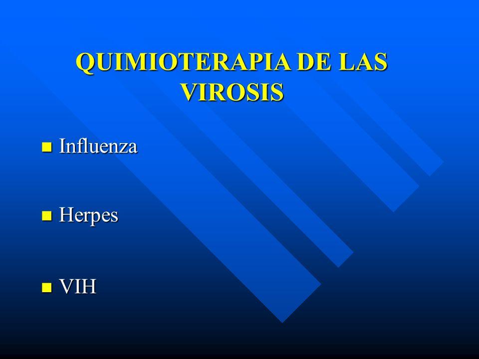 QUIMIOTERAPIA DE LAS VIROSIS