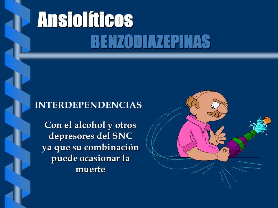 Ansiolíticos BENZODIAZEPINAS INTERDEPENDENCIAS
