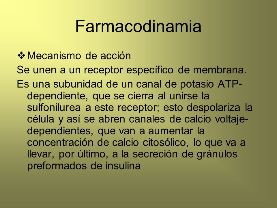 Farmacodinamia Mecanismo de acción