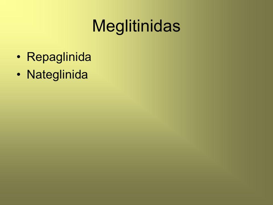 Meglitinidas Repaglinida Nateglinida