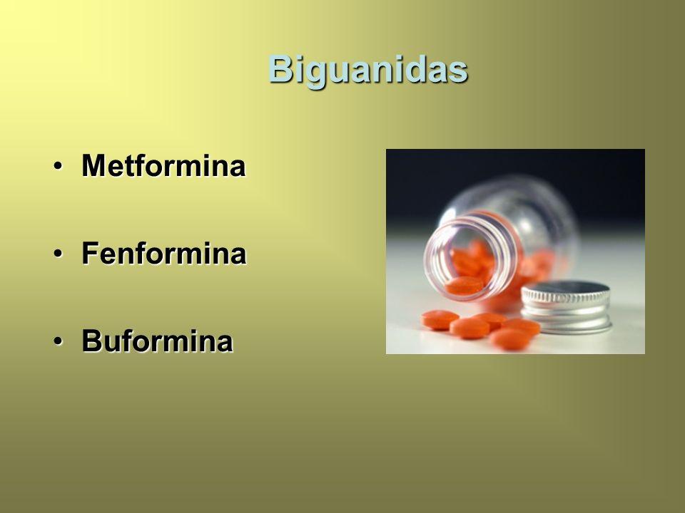 Biguanidas Metformina Fenformina Buformina