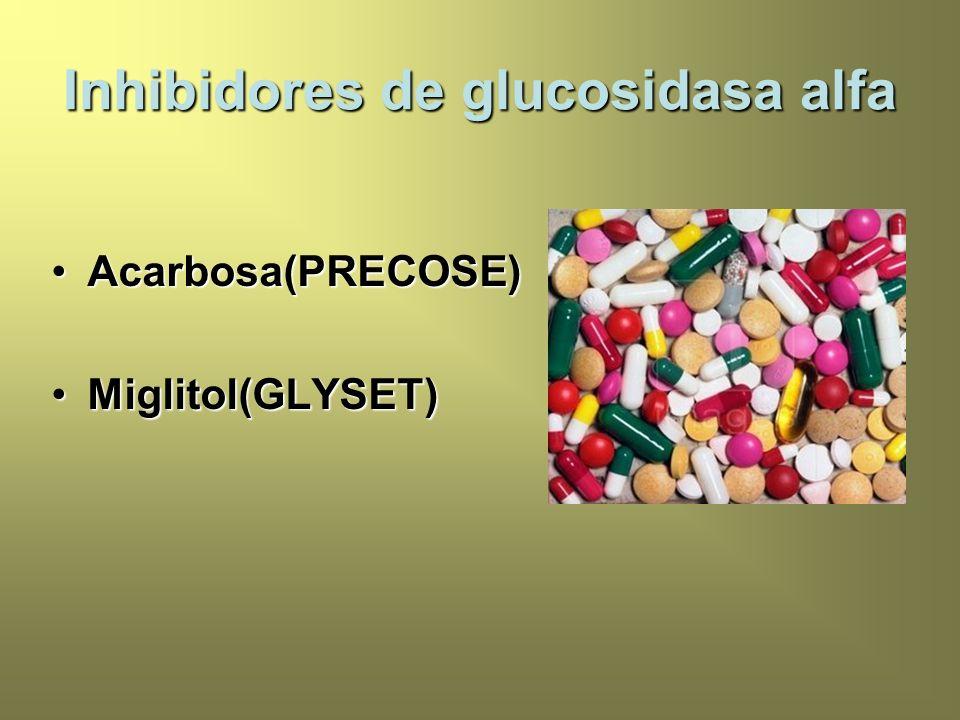 Inhibidores de glucosidasa alfa