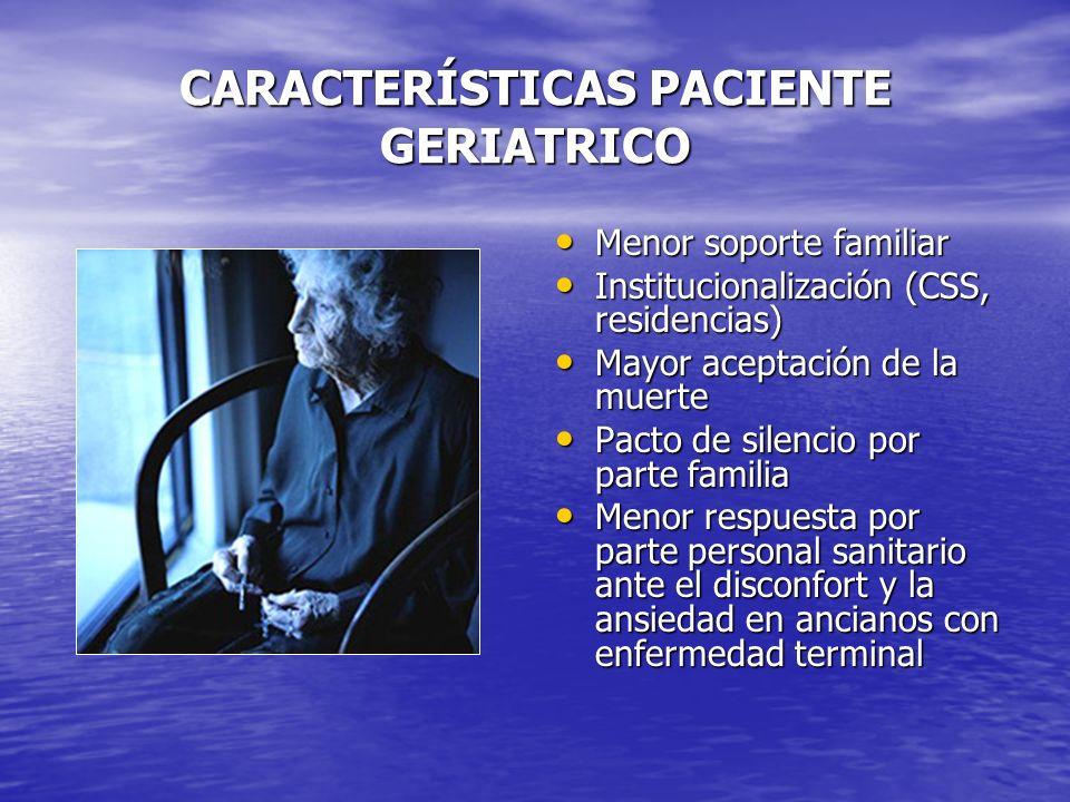 CARACTERÍSTICAS PACIENTE GERIATRICO